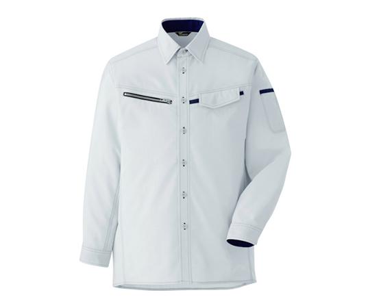ベルデクセル 男女ペア 交織ストレッチシャツ VES2531上 L VES2531UEL