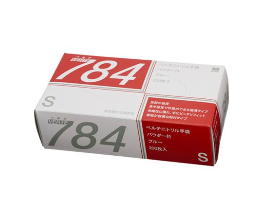 ニトリルディスポ手袋 ベルテ784 200枚入 S VERTE784S