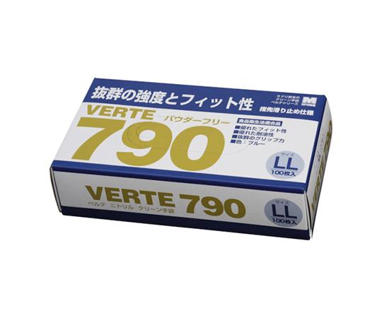 ニトリルディスポ手袋 ベルテ790 100枚入 LL VERTE790LL