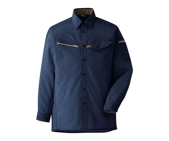 ベルデクセル 男女ペア 交織ストレッチシャツ VES2537上 L VES2537UEL