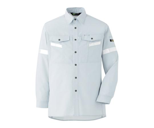 ベルデクセル帯電防止 反射材仕様 長袖シャツ VES2551上 L VES2551UEL