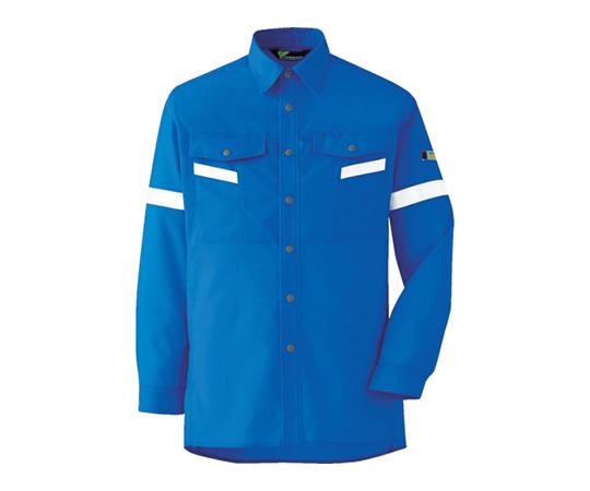 ベルデクセル帯電防止 反射材仕様 長袖シャツ VES2553上 M VES2553UEM