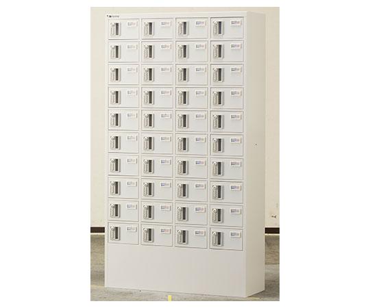 貴重品ロッカー 暗証番号錠タイプ ホワイト (4列10段) NKBA-0410