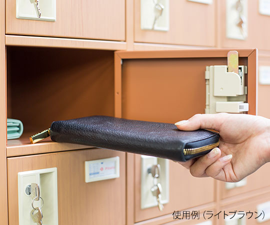 木目調貴重品ロッカー シリンダー錠タイプ ダークブラウン (1列5段) NKMS-0105DB