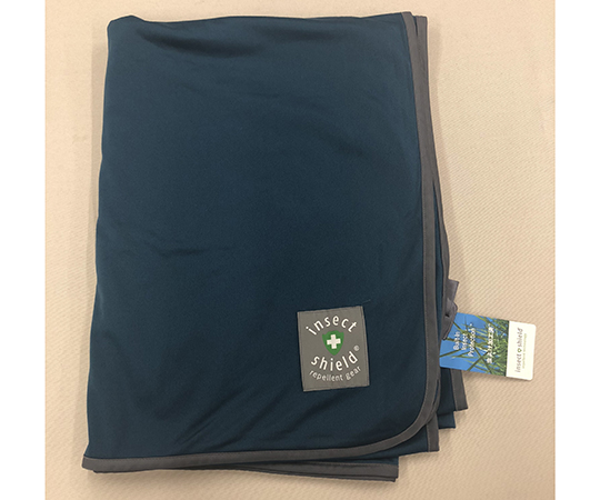 [Discontinued]Insect Repellent Blanket Navy L blanketL