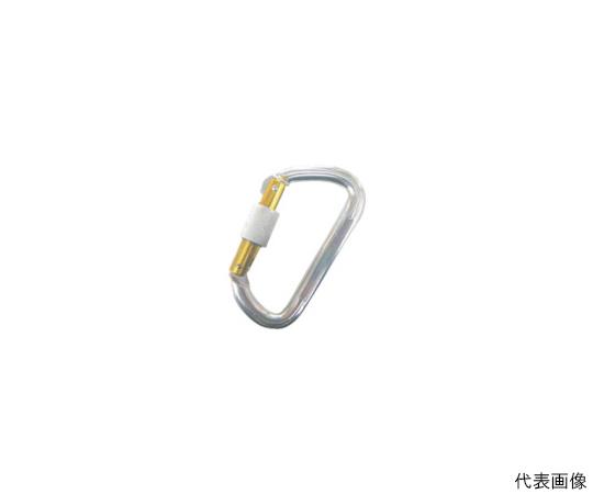 アルミカラビナ(環付) シルバー 線径11mm長さ101mm  AKD11BS