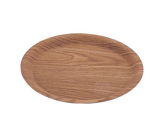 木目樹脂ラウンドトレイ ナチュラル 小
