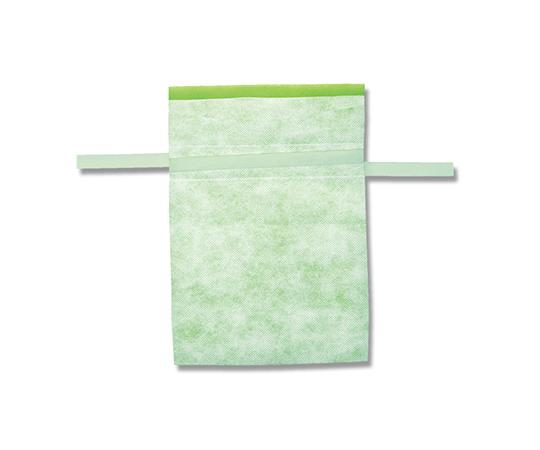 不織布巾着袋 Fバッグ Wシャンテタイプ L ライトグリーン 10枚  008739979