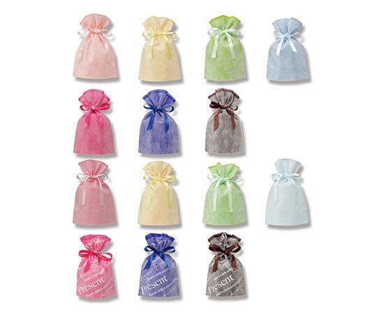 不織布巾着袋 Fバッグ Wシャンテタイプ L ライトブルー 10枚  008739981