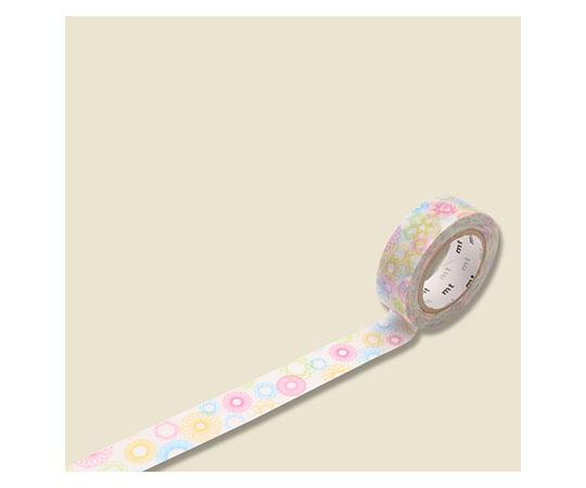 [取扱停止]マスキングテープ(mt) 15mm×10m巻 スピログラフ 1巻  001603821