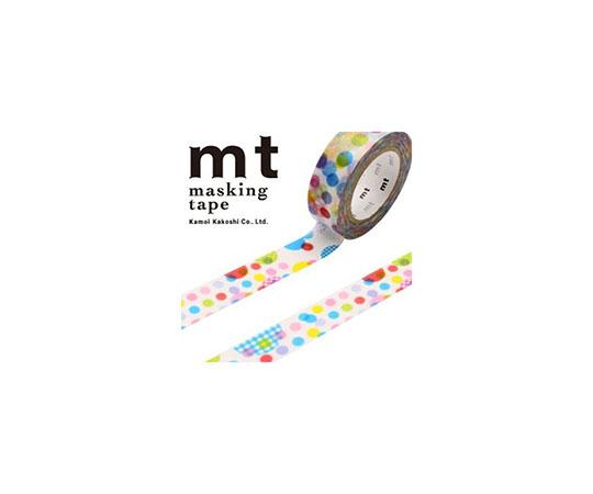 [取扱停止]マスキングテープ(mt) 15mm×10m巻 ランダムドット 1巻  001603819