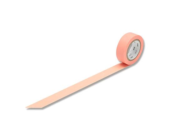 [取扱停止]マスキングテープ(mt) 15mm×10m巻 サーモンピンク 1巻  001603501