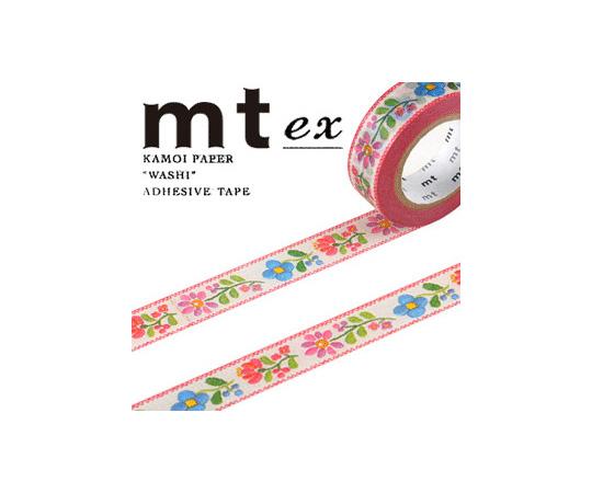 [取扱停止]マスキングテープ(mt) 15mm×10m巻 刺繍 1巻  001603277