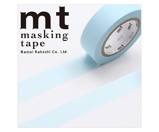 [取扱停止]マスキングテープ(mt) 15mm×10m巻 パステルパウダーブルー 1巻  001603841