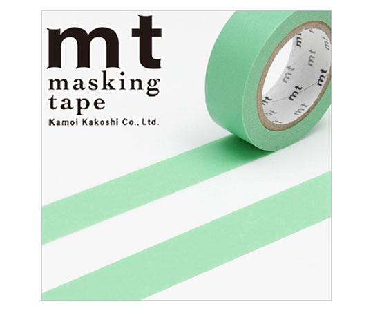[取扱停止]マスキングテープ(mt) 15mm×10m巻 若緑 1巻  001603503