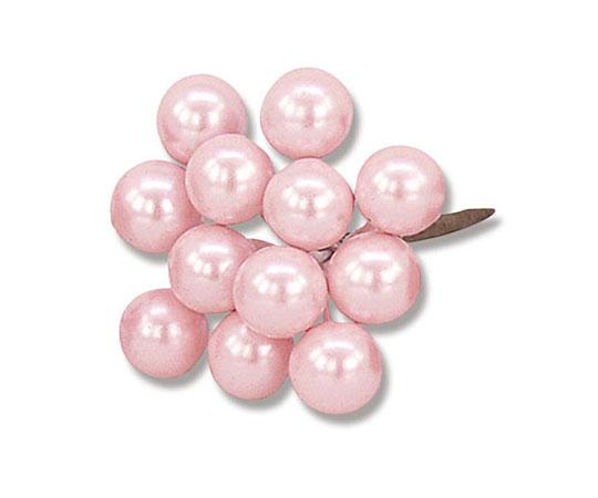 [取扱停止]フラワーパーツ 10mm パールベリー ライトピンク 1袋144本入(12本×12個)  008722011