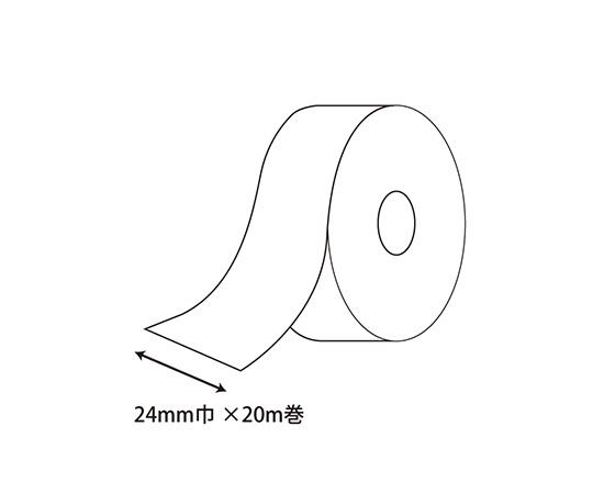 シングルサテンリボン 24mm幅×20m巻 モモ 1巻  001420235