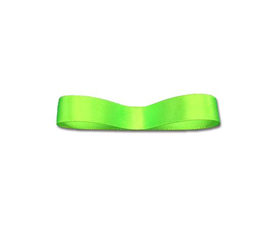 [取扱停止]シングルサテンリボン 6mm幅×20m巻 ネオンカラーグリーン 1巻  001419888