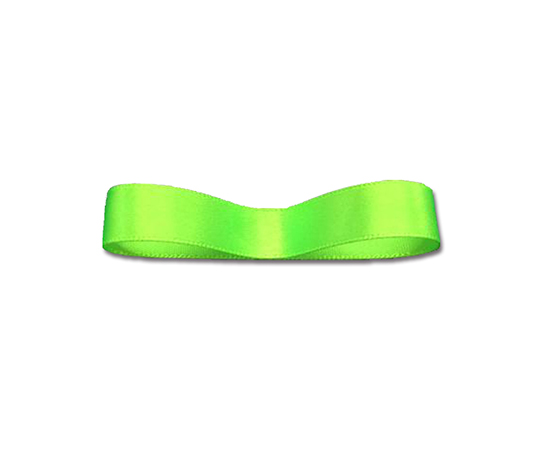 [取扱停止]シングルサテンリボン 9mm幅×20m巻 ネオンカラーグリーン 1巻  001419988