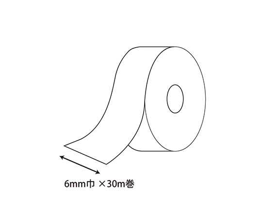カールリボン 6mm幅×30m巻 オレンジ 1巻  001418123