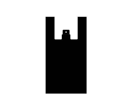 [取扱停止]レジ袋 ノンスケルハンドハイパー M ブラック 100枚  006646820