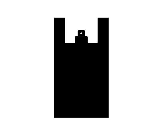[取扱停止]レジ袋 ノンスケルハンドハイパー L ブラック 100枚  006646830