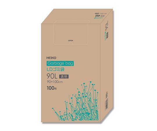 LDゴミ袋 90L 透明 100枚/箱  006605302