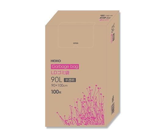 LDゴミ袋 90L 半透明 100枚/箱  006605305