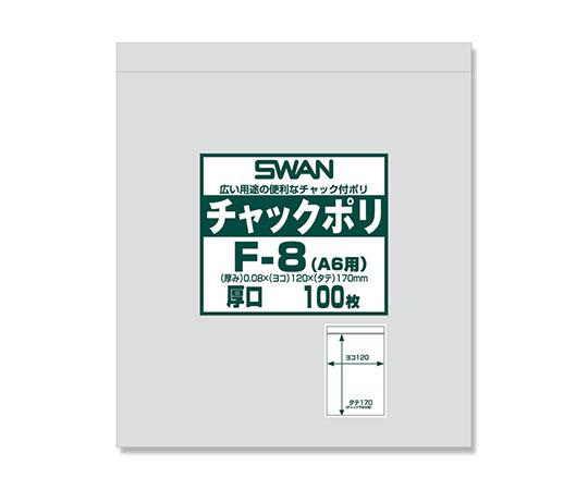 チャックポリ(A6用) 厚口 100枚  006656065
