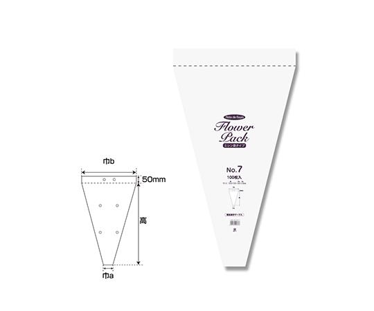 ポリ袋 Nフラワーパック ミシン目タイプ 0.028mm厚 100枚  006762917