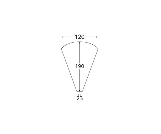 スナック包材 クレープ三角袋 100枚  004738205