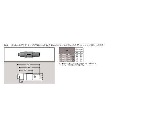 プッシュプル 丸型 小型プラスチックコネクタ ストレーツプラグ REDEL Pシリーズ  PAG.M0.4GL.AC39GZ