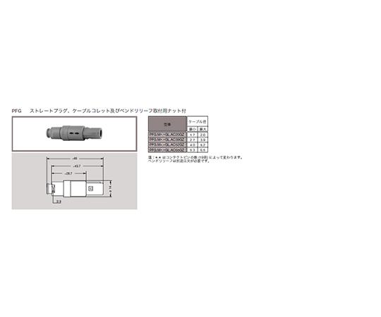 プッシュプル 丸型 小型プラスチックコネクタ ストレーツプラグ REDEL Pシリーズ  PFG.M0.9NL.AC52NZ