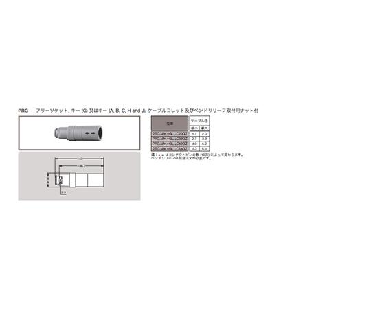 プッシュプル 丸型 小型プラスチックコネクタ 中継固定ソケット REDEL Pシリーズ  PRG.M0.2NL.LC52NZ