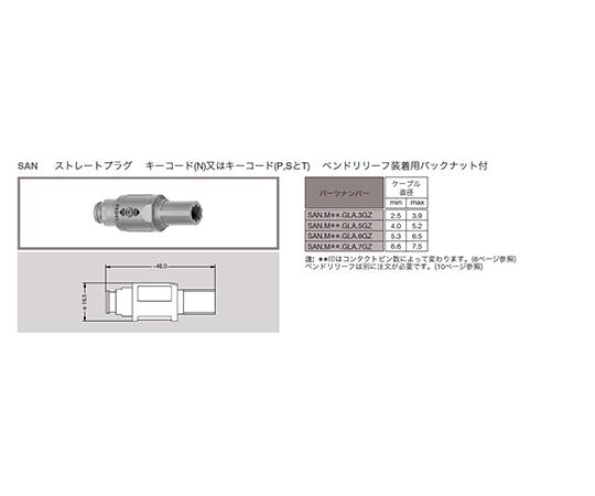 プッシュプル 丸型 小型プラスチックコネクタ ストレートプラグ REDEL SPシリーズ  SAN.M16.NLA.6NZ