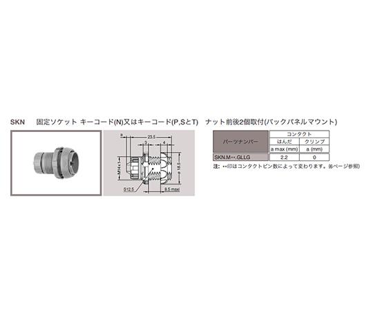 プッシュプル 丸型 小型プラスチックコネクタ 固定ソケット REDEL SPシリーズ  SKN.M16.NLLN