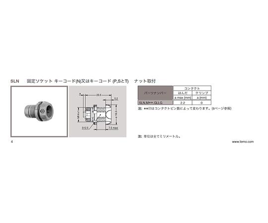 プッシュプル 丸型 小型プラスチックコネクタ 固定ソケット REDEL SPシリーズ  SLN.M16.NLLN