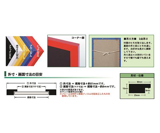 ニューアートフレームカラー ポスターサイズ ブラック  NB-610X915-BK