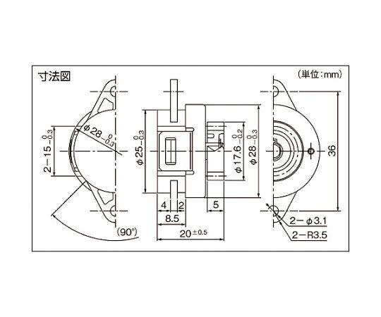 ロータリーダンパ TD62 TD62W1-1500