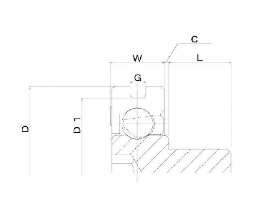 樹脂ベアリング DH-B-JH DH-21-B0.5-2-JH