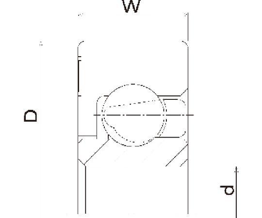 樹脂ベアリング DR-S 外径×内径:40×17mm DR-40-SHS17-GN