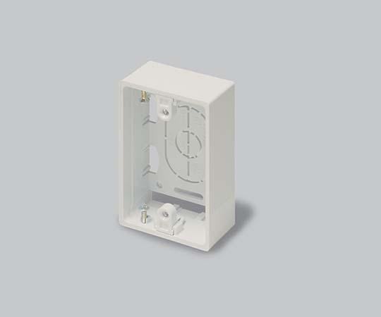 ニュー・エフモール付属品 露出ボックス 1個用 浅型 ミルキーホワイト  SFBA13