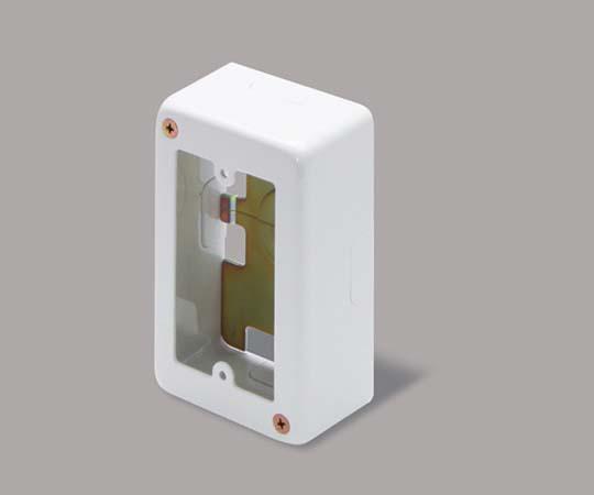 メタルモール付属品 1個用スイッチボックス A型専用浅型 ホワイト  A3012