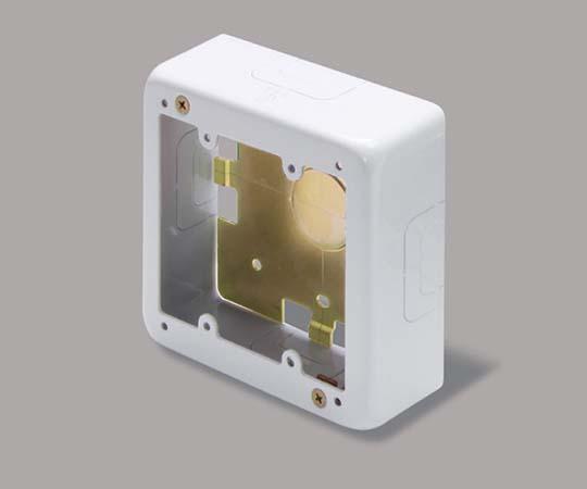 メタルモール付属品 2個用スイッチボックス 浅型 ホワイト  AB3122