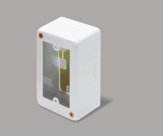 メタルモール付属品 1個用スイッチボックス 深型 ホワイト  AB4112