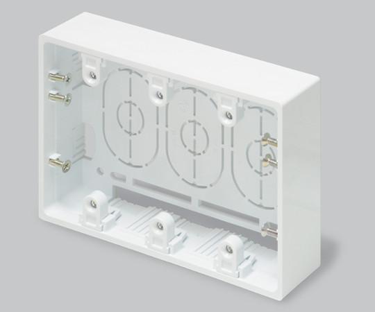 ニュー・エフモール付属品 露出ボックス 3個用 浅型 ホワイト  SFBA32