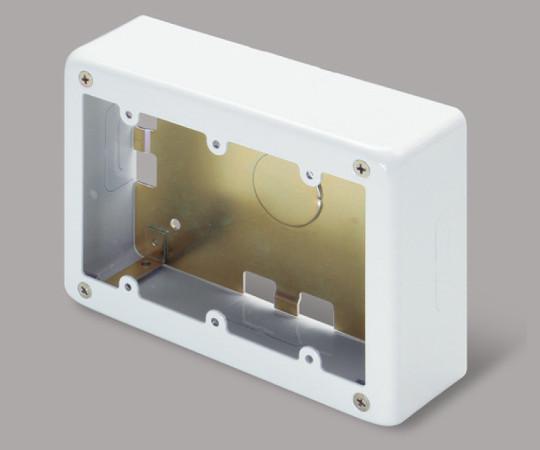 メタルモール付属品 3個用スイッチボックス 深型 ホワイト  AB6132