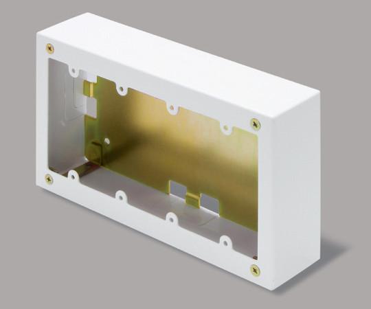 メタルモール付属品 4個用スイッチボックス 深型 ホワイト  AB6142