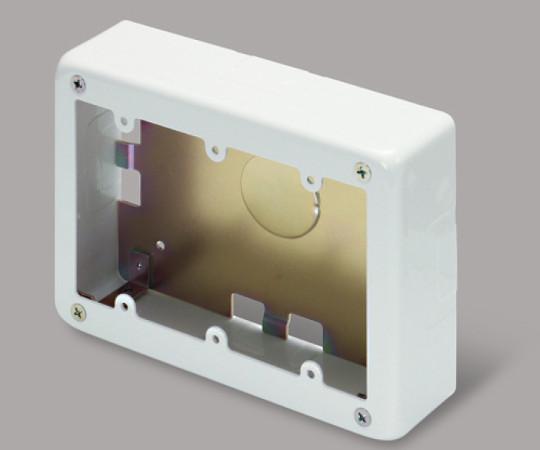 メタルモール付属品 3個用スイッチボックス 浅型 ホワイト  AB5132