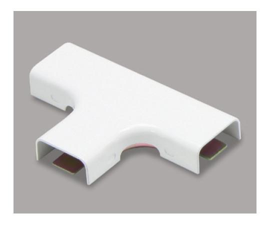 メタルモール付属品 ティー A型 ホワイト  A1062